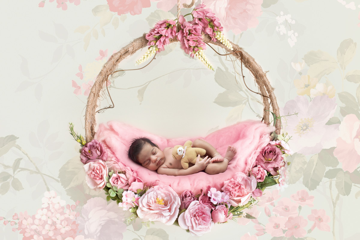 Newborn photography sessions floral in Townsville.